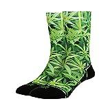 LUF SOX Classics Ganja - Socken für Damen und Herren, Unisex-Größe 36-40 und 41-46, mehrfarbig, Ferse und Fußspitze leicht gepolstert