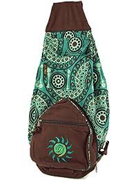 Guru-Shop - Bolso mochila  de algodón para mujer