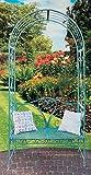 Rosenbogen mit Gartenbank Eisen Antik-Grün Höhe 230 cm Rankhilfe Pergola Spalier