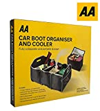 Car Boot Organiser & Cooler Bag - AA Travel Essentials Boot Tidy Storage Folding Boxes Fully Collapsible & Portable Car Storage Accessory