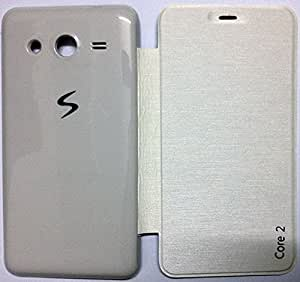 MACC Diary Flip Cover / Case for Samsung Galaxy Ace NXT SM-G313H / Ace Next - White