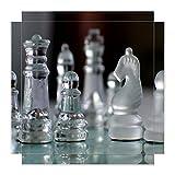 Möbelsticker 55x55 Puzzle Glas Schach Spiel schönes Design schick NEU 100STK2850