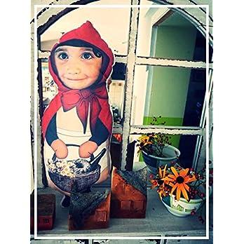 Puppen Kissen mit deinem Foto Kinderkissen Namenskissen