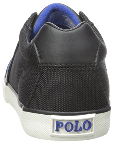 Polo Ralph Lauren Hugh Pique Nylon Fashion Sneaker Black
