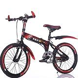 YEARLY Kinderfahrrad, Schüler klappräder Junge Leichte tragbare Mountainbike Klappräder-Rot 22inch