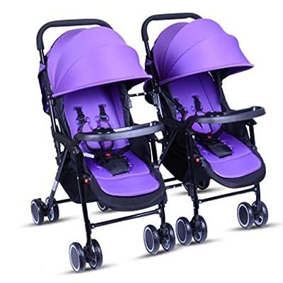Cochecito de bebé Twins / Cochecitos Dobles Puede sentarse o acostarse Se puede dividir Carritos Silla de paseo tándem