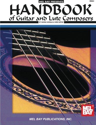 Handbook Of Guitar And Lute Composers par  Mel Bay Publications