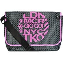Women's Gio Goi Designer Cross Body Bag College Gym Laptop Shoulder Messenger Black One Size