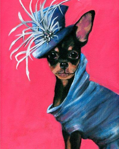 john-galliano-giclee-robe-a-imprime-chihuahua