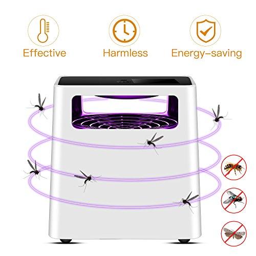 MAVIE Moskito Killer Lampe, Elektrisch Insektenvernichter Ultravioletter LED Insektenlampe USB Angetriebene Indoor Mückenfalle UV Mückenlampe mit Ventilator Nicht-Chemische für Kleinkinder, Kinder (Moskito-killer)