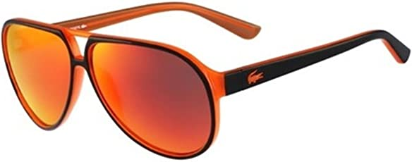 Lacoste Mirrored Aviator Unisex Sunglasses - (Lacoste 714 004 59 S|59|Red Color Lens)