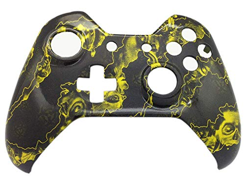 11b36f7012e GT Xbox One Original Hydro Dipped Yellow Ghost Skull Controller Shell Mod -  Front Shell