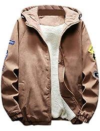 Winterjacke Herren Manalian Männer Herbst Winter Verdickt Warm Jacke  Reißverschluss Kapuzenpullover Outwear Mantel Tops Bluse 8ef9500a56