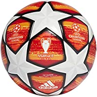 adidas Finale M TTRN Soccer Ball, Hombre, Top:White/Active Scarlet Red Bottom:Bright Orange/Solar Gold/Black, 5