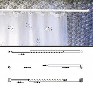 Maurer 4042205 – Barra para cortina de ducha, extensible, 125 x 220 cm, aluminio blanco