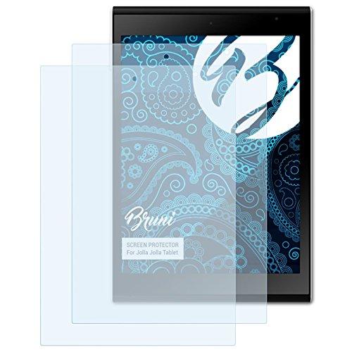 Bruni Schutzfolie kompatibel mit Jolla Jolla Tablet Folie, glasklare Bildschirmschutzfolie (2X)