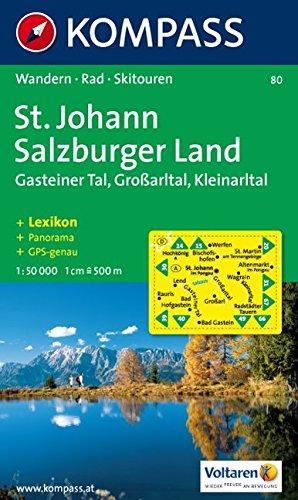 St. Johann, Salzburger Land, Großarltal, Kleinarltal, Hochkönig, Tennegebirge. Wandern, Rad, Skitouren. Panorama. GPS-genau. 1:50.000