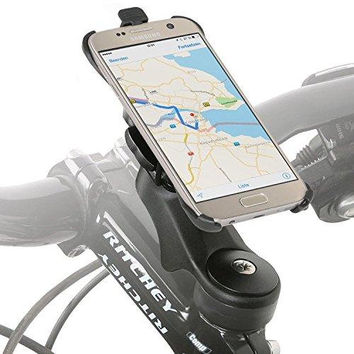 Wicked Chili Fahrradhalter Vorbau/Ahead Halter für Samsung Galaxy S7 (G930F) (MTB/Rennrad, Made in Germany, QuickFix, 20% Carbon), S7 Vorbau Halterung