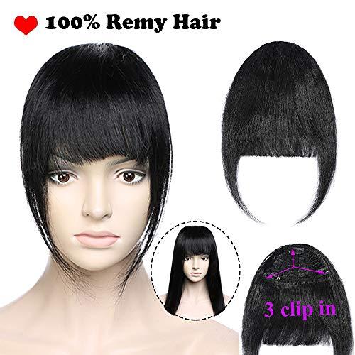 Flequillo Postizo Pelo Natural Clip 100% Remy Extensiones