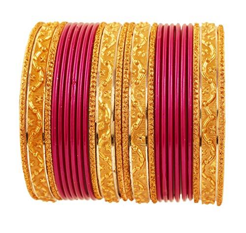 Touchstone 2 Dutzende Armreifsammlungslegierungsmetallstrukturierte purpurrote spezielle Armreifarmbänder des Designer-Schmucks für Damen 2.75 Set 2 groß Lila