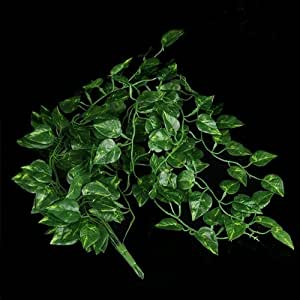 Pianta artificiale foglie verde cadente per arredo casa for Arredo casa amazon