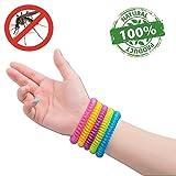 #1 Bracelets anti-moustique par NATURO HOME -paquet/famille de 10 Bracelets- Résistant à l'eau couleur moustiques Bracelets- 100% Naturels Huiles essentielles, sécurises et efficaces de DEET