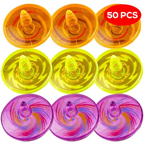 50 trottole giocattolo colorate: perfette come regalini per bambini da inserire nelle borse regalo per feste - giocattoli colorati, articoli per feste di compleanno, bambini ragazzi ragazze