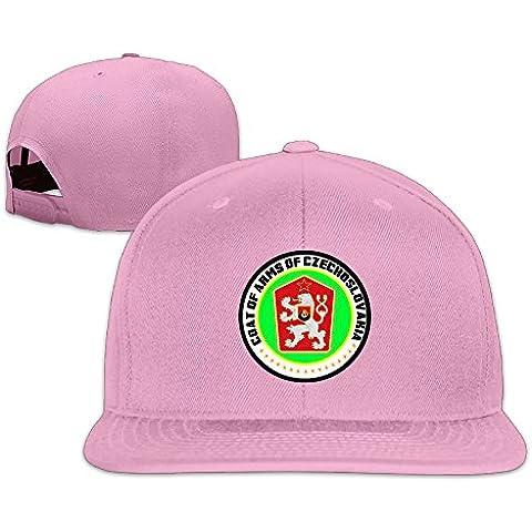 Custom Adjustable Coat Of Arms Of Czechoslovakia Hat Flat Along Baseball Cap Ivy Cap
