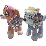 Patrulla Canina - Paw Patrol Girls - Everest y Skye -Peluche de 2 piezas- 14140EV