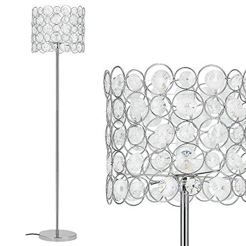 [lux.pro] Lampada da terra - CrystalTree - (1 x base E27)(155 cm x Ø 34 cm) lampada a stelo lampada da terra stanza salotto nero