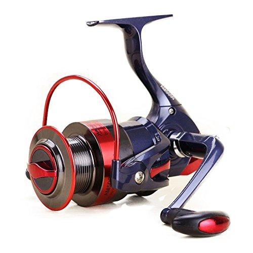 Hysenm alta velocità 5, 5:1 intercambiabili front drag, mulinello da spinning con braccio pieghevole, bobina in alluminio, con manico di gomma, motivo: rock, per pesca d'acqua dolce