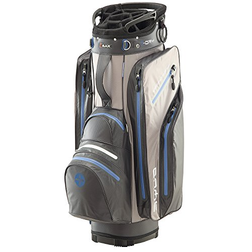 BIG MAX I-Dry Aqua Tour Golf Cartbag - 100% Wasserdichte Golftasche 2016 (Charcoal-Silver-Cobalt)