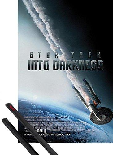 Poster + Sospensione : Star Trek Poster Stampa (91x61 cm) Into Darkness, Enterprise Cade E Coppia Di Barre Porta Poster Nere 1art1®