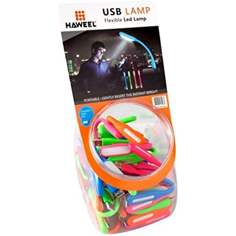 40 Pieces Mixed Colors HAWEEL Mini Portatile USB LED Flexible Eye-protection Luce Lampada Lampadina Light Kit con Candy Cans Package per PC / Laptops / Power Bank