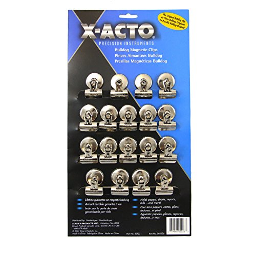 x-acto-1-1-4-inch-number-1-bulldog-magnetic-clips-card-of-18