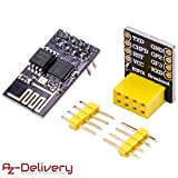 AZDelivery ⭐⭐⭐⭐⭐ esp8266 01 esp-01 WLAN Wifi Modul mit Breadboardadapter für Arduino mit Gratis eBook!