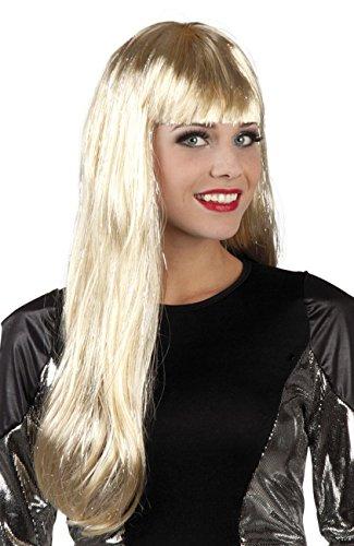 Boland 86290 Erwachsenenperücke Glamour mit Lametta, blond, One Size