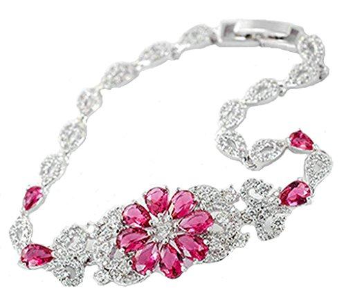 amdxd-jewelry-gold-plated-women-charm-bangle-bracelet-flower-cz-inlaid-water-drop