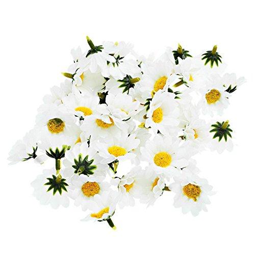 junejour 100Künstliche Daisy Blumen Hawaiian Haar Blumen für DIY Hochzeit Kostüm Party Dekoration (Diy Kostüm Daisy)