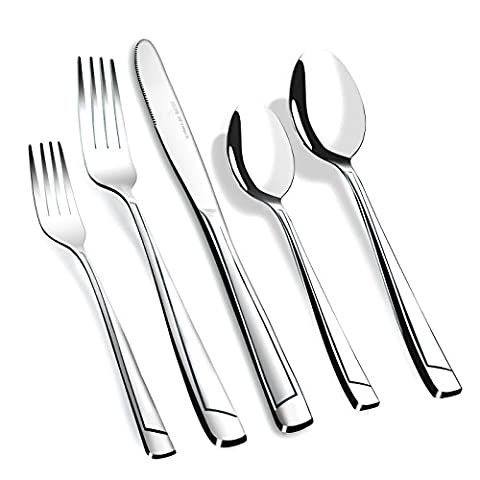 AckMond classic 40-piece Stainless-steel Cutlery Set Flatware Set, Service for 8
