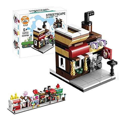 FACTORY CR- Juego Blocks Coffee Store 120 Piezas 22X17X4,6cm Compatible (658365), (1)