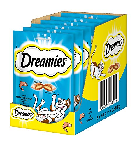 Dreamies Katzensnacks/Klassiker Klassiker, mit Lachs, 6 Beutel (6 x 60 g)