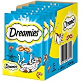 Dreamies Katzensnacks Klassiker / Katzenleckerli mit wertvollen Vitaminen und Mineralstoffen / Lachs / 6 x 60g
