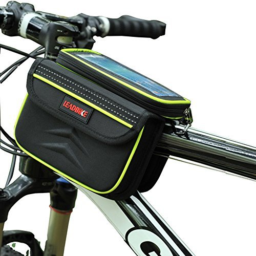 Price comparison product image DRUnKQUEEn Waterpoof Frame Front Tube Pannier Bike Bicycle Cycling Saddle Bag by with Detachable CellPhone Case Touchscreen Pouch Holder & Reflective Stripe