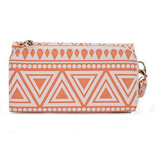 Kroo Pochette/étui style tribal urbain compatible HUAWEI Ascend y221/Honor Bee Multicolore - Noir/blanc Multicolore - White and Orange
