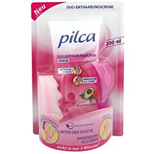 Pilca Duo épilation crème 200ml & Spatule et éponge