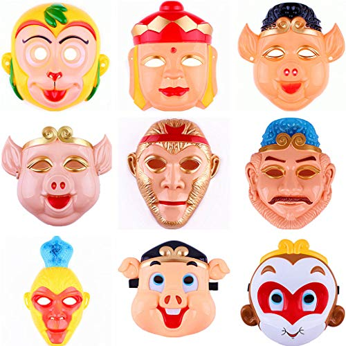 Reise In Den Westen Kostüme Requisiten Maske Monkey King Monkey König Maske Monkey Schwein Acht Kündigen Tang Mönch Maske