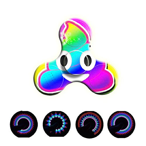 Preisvergleich Produktbild Hand Spinner Kreative Spielzeug LED Mini Bluetooth Lautsprecher Musik Fidget Spinner EDC Hand Spinner Spielzeug 2017 Neu (G)