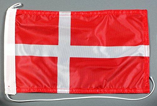 Bootsflagge Dänemark 20 x 30 cm in Profiqualität Flagge Motorradflagge