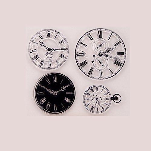 HULE Clock transparent klarer Silikon Stempel für DIY Scrapbooking Foto-Album Dekor China Dekor